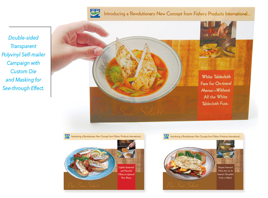 Transparent Mailer for Fishery Products International