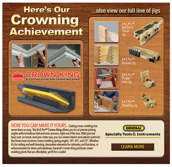 General Tools Crown King Wood Jig Email Graphics