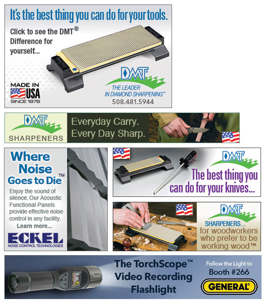 Web ad designs for hand tools and sound control