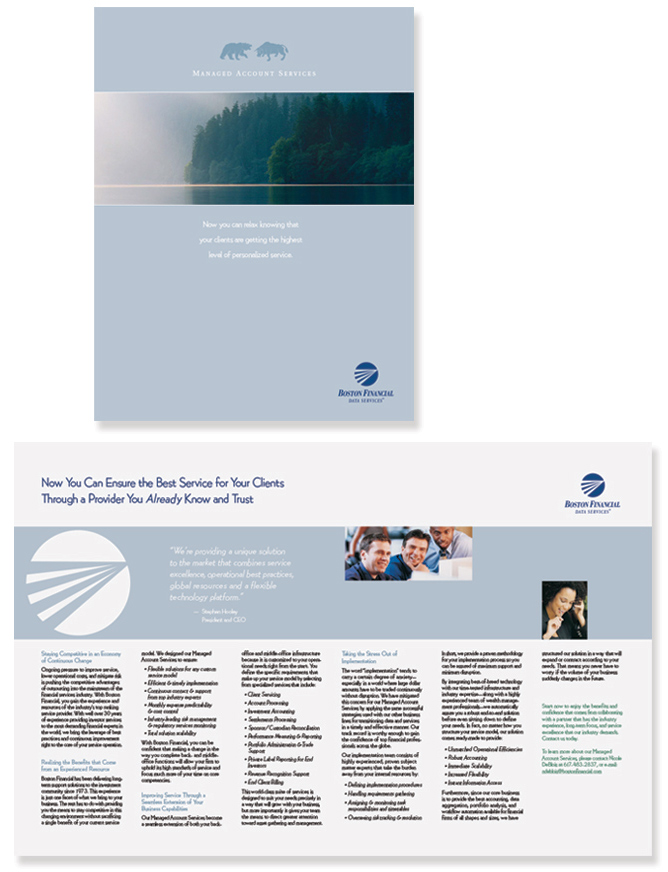 Boston Financial Brochure Design