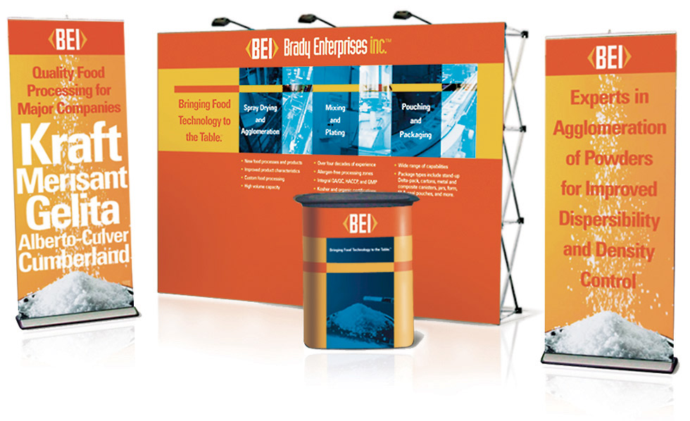 BEI trade show booth