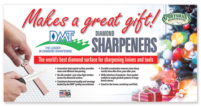 DMT Sharpeners Christmas Display Banner