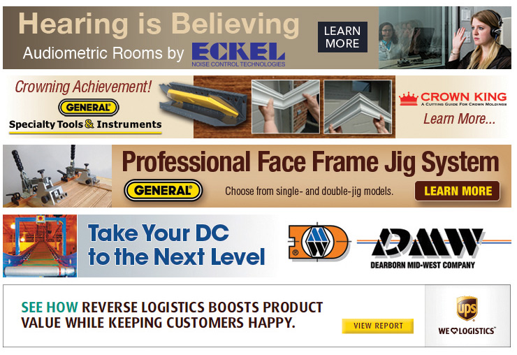 Leaderboard banner ads for Eckel, General, DMW and UPS
