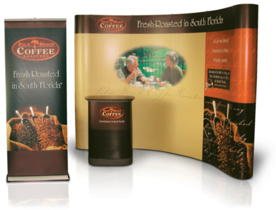 Palm Beach Coffee Roasters Trade Show Booth