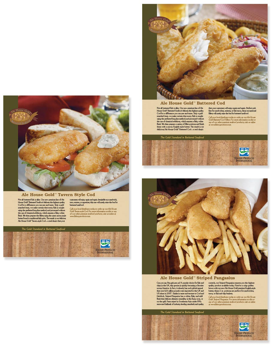 FPI Frozen Battered Fish Sell Sheet Design