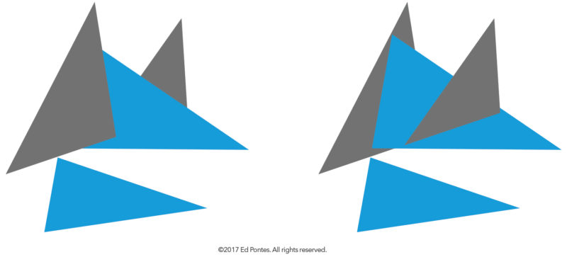 Demo graphic, the Contiguity of Four Triangles