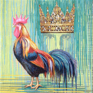 """Cocks and Crowns"" Painting"