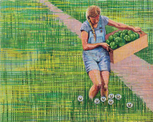 """One Fine Day While Picking Peppers"" Painting"