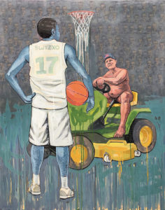 """The Game Ends in Charlottesville"" Painting"