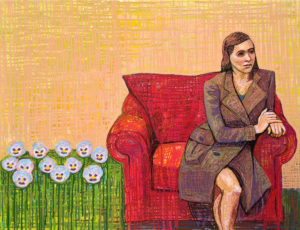 """Woman in the Big Chair"" Painting"